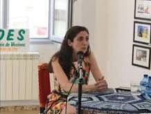 La escritora Espido Freire en el encuentro que mantuvo en La Salchichería