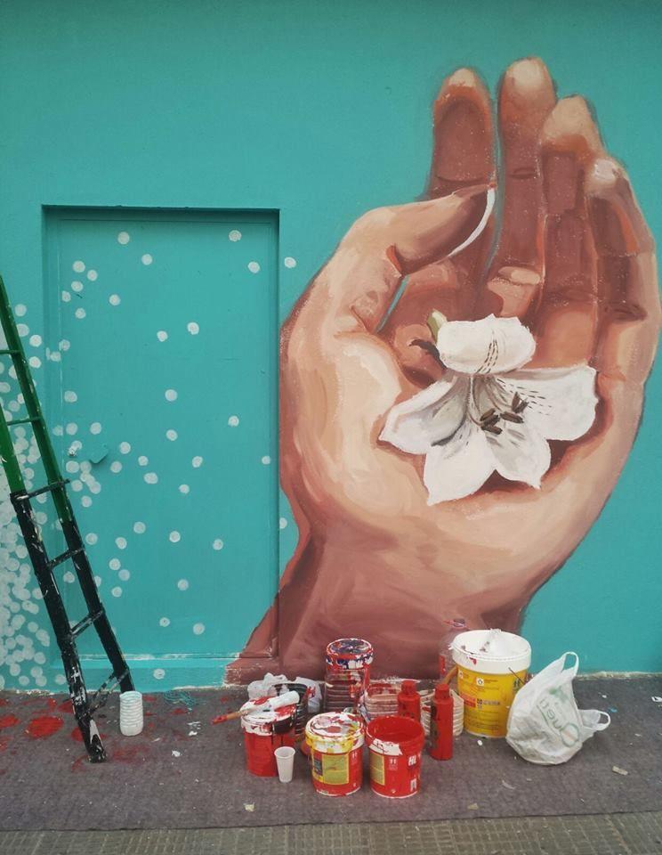 Intervención artística en proceso. Calle Islas Canarias