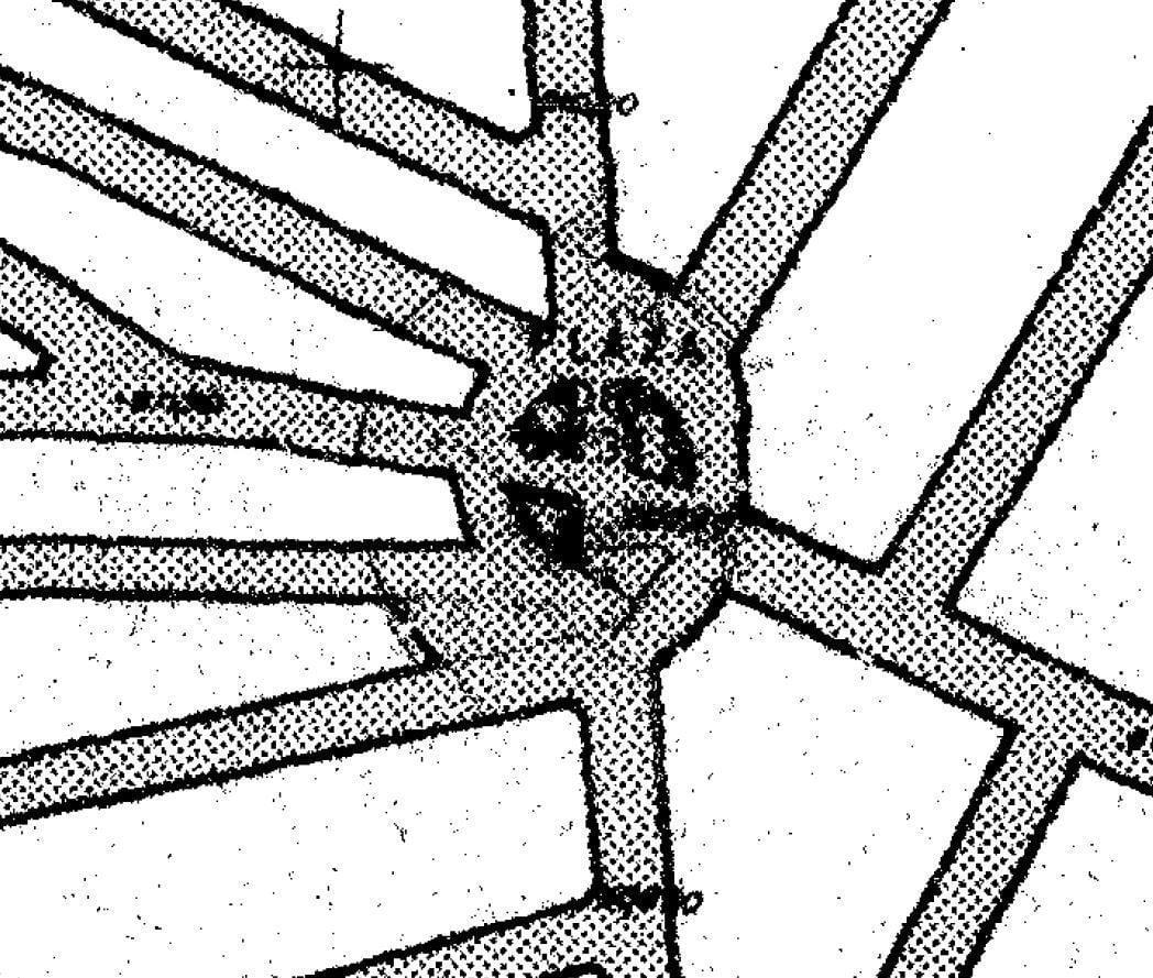 Dimensión de la plaza del Eeste en Plan General de Salamanca de 1984