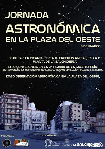 Jornada Astronómica en la Plaza del Oeste, 5 de marzo