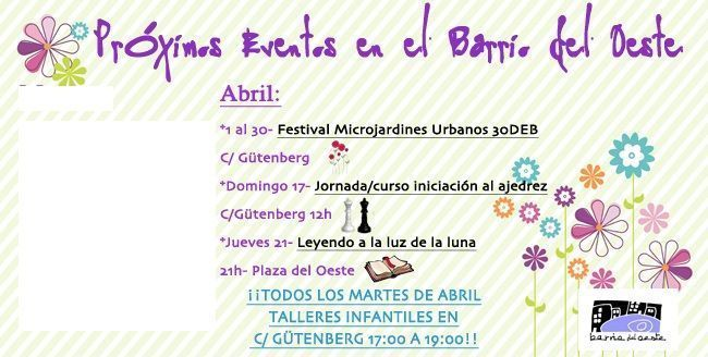 Photo of Para el mes de abril, eventos mil por el Barrio del Oeste