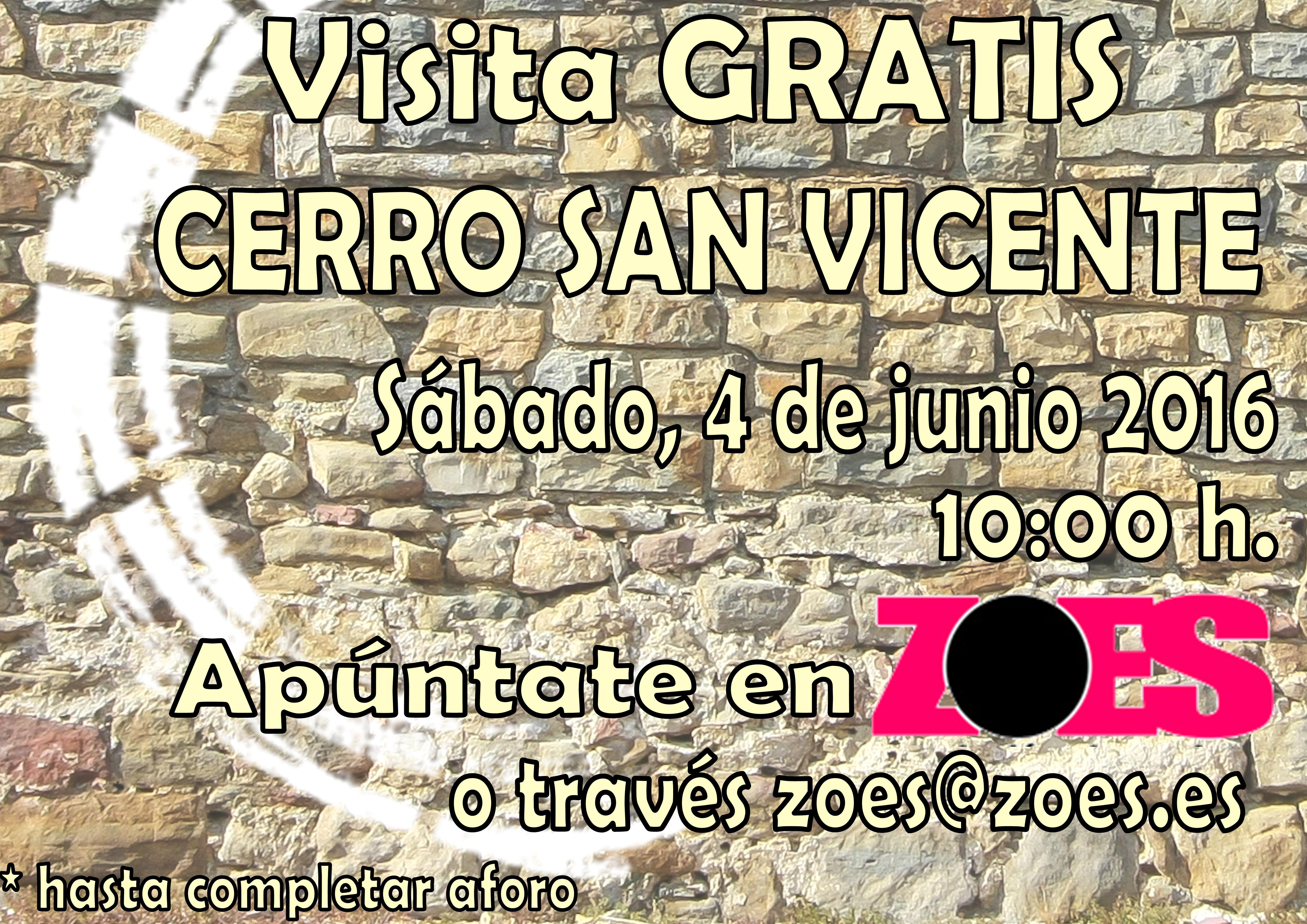 Cartel CERRO SAN VICENTE 4 junio 2016