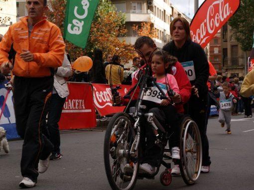 Mil pasos solidarios con la discapacidad en el deporte