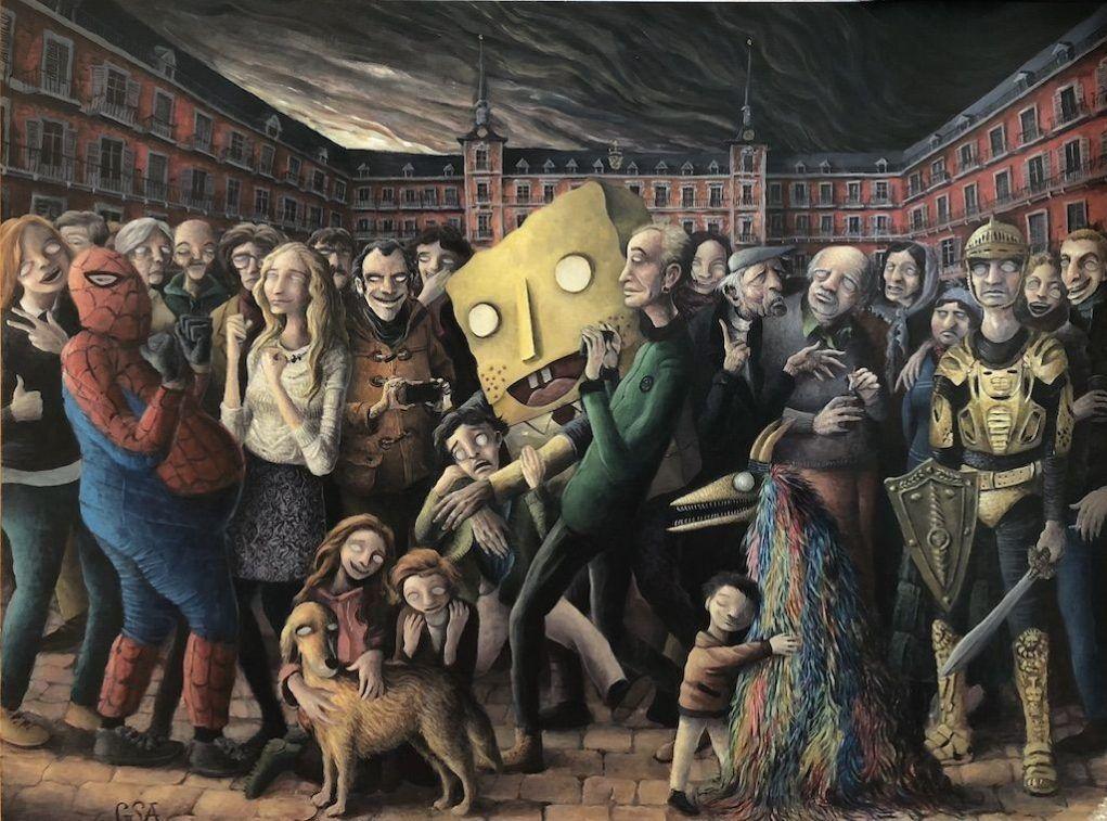 """Photo of """"Mis pinturas reflejan lo que más me motiva de la sociedad"""""""