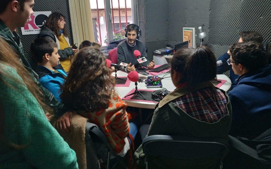 """Encuentro con el taller de radio del """"espacio i"""" de Ciudad Rodrigo"""