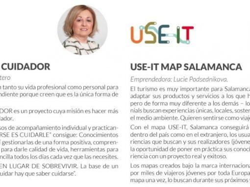 """Emprendedoras: Beni Ratero """"El cobijo del cuidador"""", y Lucie Podsednikova """"USE-IT Map"""" de Salamanca"""
