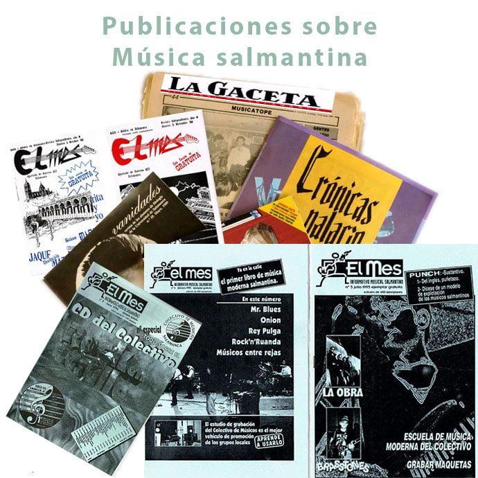 Música salmantina en el fanzine El MES, La Gaceta Regional y las revistas universitarias Vanidades y Crónicas de Palacio