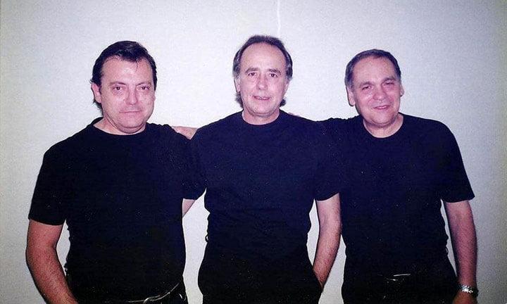 Con Serrat y Ricardo Miralles en Mexico
