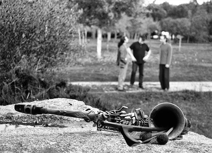 Cesar Tejero trio instrumentos
