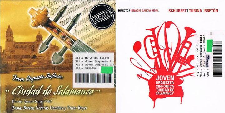 CDs de la JOSCDS en Biblioteca Torrente Ballester