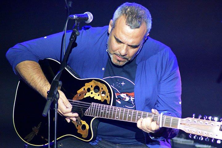 Chefo Martín guitarrista y teclista de Godaiva