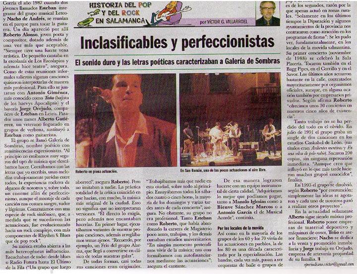 Galería de Sombras, artículo de Víctor en El Adelanto