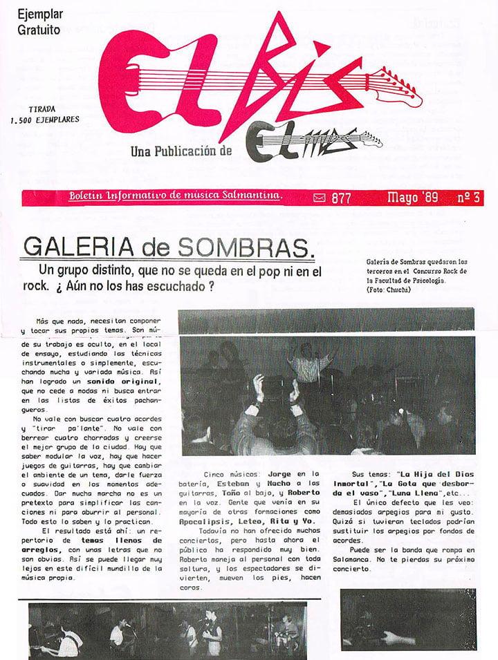 Galería de Sombras en El MES Mayo-89