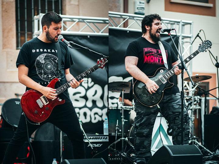 Félix Montero (guitarra) y Álvaro Lorenzo (voz y guitarra)
