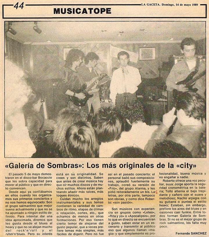 Galería de Sombras en La Gaceta (14-Mayo-1989)