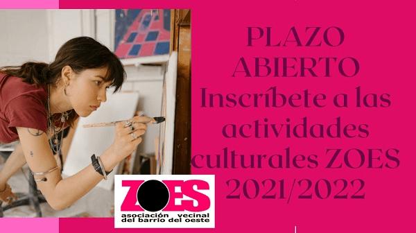 Información procedimiento de inscripciones de carácter social, cultural y deportivo-de promoción de la salud  ZOES Curso 2021