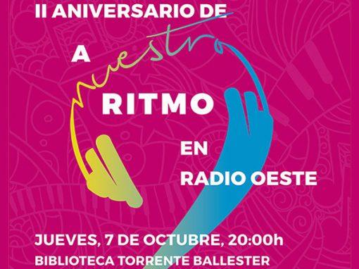 Concierto II Aniversario A Nuestro Ritmo, el jueves 7-Oct