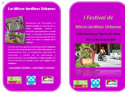 "Festival de Microjardines Urbanos ""Metro a Metro"""