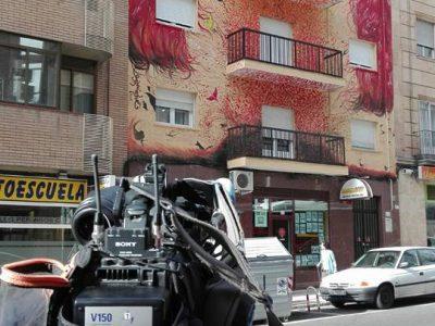 """""""Edificio Otoño"""", la última obra de arte urbano en el Oeste"""